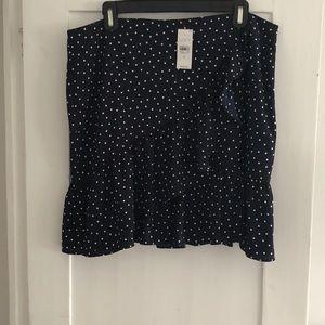 Adorable Polka Dot Ruffle Skirt LOFT 12